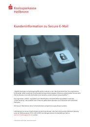 Kundeninformation Secure E-Mail - Kreissparkasse Heilbronn