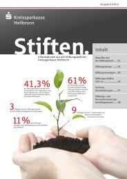 Stiften 01/2012 - Stifterforum Heilbronn-Franken