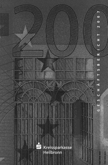 Geschäftsbericht 2007 - Kreissparkasse Heilbronn