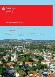 Geschäftsbericht 2007 - Sparkasse Herford