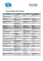 Press release 20 June 2012 - EACA