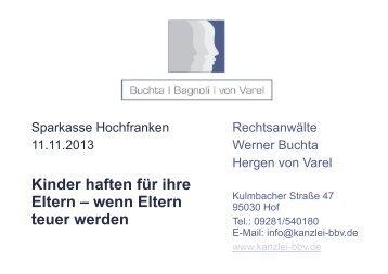 Vortrag Einleitung - Sparkasse Hochfranken