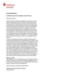 Pressemitteilung - Sparkasse Holstein