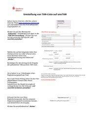 Umstellung von TAN-Liste auf smsTAN - Sparkasse Holstein