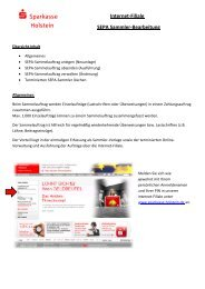 Internet-Filiale Sammler-Bearbeitung - Sparkasse Holstein