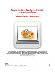 Secure Mail der Sparkasse Holstein - Kundenleitfaden-