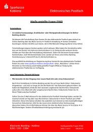 zur FAQ-Liste (pdf) - Sparkasse Koblenz