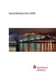 Geschäftsbericht 2009 - Sparkasse Koblenz