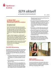 Die SEPA-Überweisung IBAN und BIC - Sparkasse Krefeld