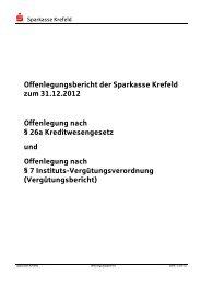 Offenlegungsbericht der Sparkasse Krefeld zum 31.12.2012 ...