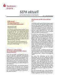 SEPA aktuell - Sparkasse Krefeld