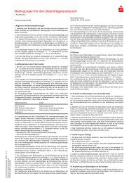 Bedingungen für den Datenträgeraustausch - Sparkasse Krefeld