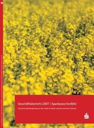 Geschäftsbericht 2007 - Sparkasse Krefeld