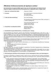 Öffentliches Verfahrensverzeichnis der Sparkasse Landshut