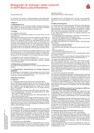 Bedingungen für Zahlungen mittels SEPA-Basis-Lastschriftverfahren
