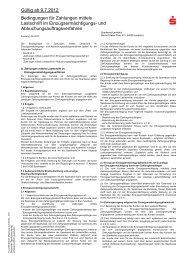 Bedingungen für Zahlungen mittels SEPA-Firmen-Lastschriftverfahren