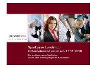 Sparkasse Landshut Unternehmer-Forum am 17.11.2010