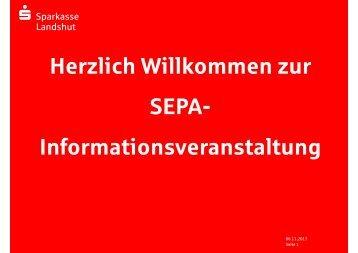 SEPA-Präsen-tation für Vereins-kunden (PDF) - Sparkasse Landshut
