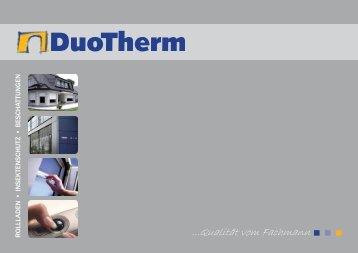 ...Qualität vom Fachmann - DuoTherm Rolladen GmbH
