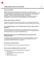 SEPA-FAQs - Sparkasse Hochsauerland