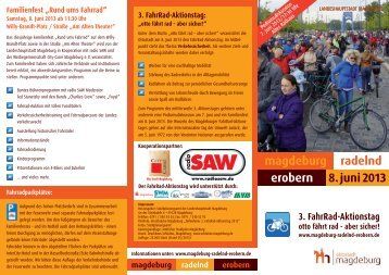 magdeburg erobern radelnd 8. juni 2013