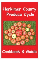 Herkimer County Produce Cycle Cookbook & Guide - Cornell Blogs ...