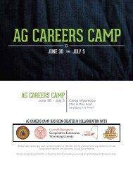 ag careers camp brochure - Cornell Blogs Service