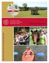Annual Report 2008 - Cornell Blogs Service - Cornell University