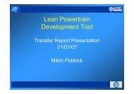Lean Powertrain Development Tool