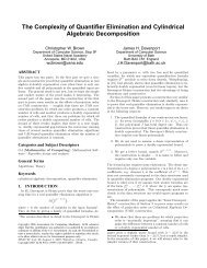 The Complexity of Quantifier Elimination and Cylindrical Algebraic ...