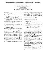 Towards Better Simplification of Elementary Functions