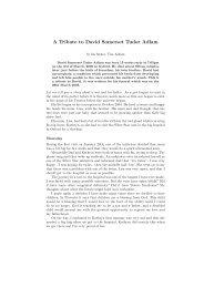 A Tribute to David (65k PDF) - University of Bath