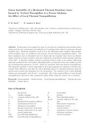 Linear Instability of a Horizontal Thermal Boundary Layer formed by ...