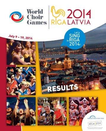 World Choir Games 2014 - Results