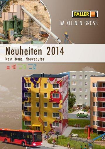 FALLER Neuheiten 2014 ohne Preis