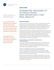 integrated traceability in fresh foods: ripe opportunity for ... - GS1 US