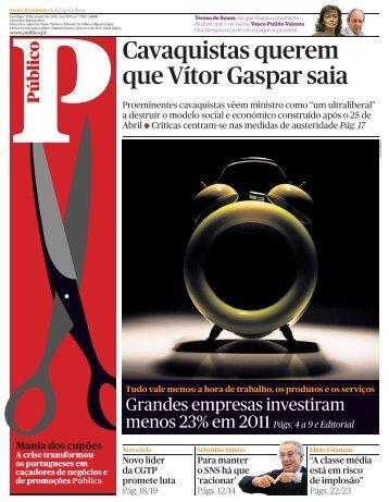 Cavaquistas querem que Vítor Gaspar saia - Europa