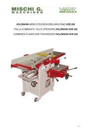 holzmann abrichtdickenhobelmaschine hob 300 pialla combinata ...