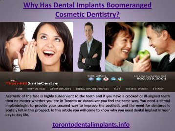 Why Has Dental Implants Boomeranged Cosmetic Dentistry