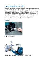Tischfräsmaschine TF 1200