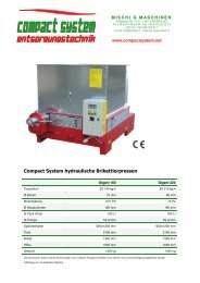 Compact System hydraulische Brikettierpressen - Mischi G. Maschinen