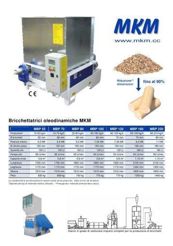 Bricchettatrici oleodinamiche MKM - Mkm.cc