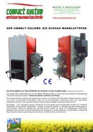 der umwelt zuliebe: die ecogas warmluftöfen - Mischi G. Maschinen