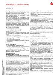 Bedingungen für das Online-Banking - Sparkasse Mainfranken ...