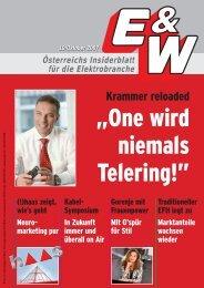 Österreichs Insiderblatt Für Die Elektrobranche - E&W