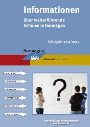 Informationen über weiterführende Schulen in ... - Stadt Dormagen