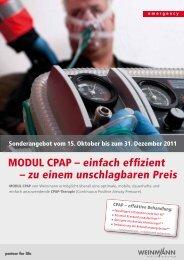 MODUL CPAP – einfach effizient – zu einem unschlagbaren Preis
