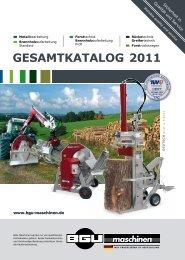 GesamtkataloG 2011 - BGU Maschinen