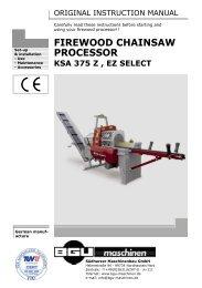 firewood chainsaw processor ksa 375 z , ez select - BGU Maschinen