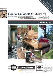 CATALOGUE COMPLET - BGU Maschinen